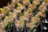 Shrimp cocktails in one of the hospitality suites during the Premier League match between Swansea City and Chelsea at The Liberty Stadium on September 11, 2016 in Swansea, Wales.