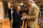 "April 16, 2014. Durham, North Carolina.<br />  Senator Kay Hagan, left, spoke with Bill Jeffries after an event to award a posthumous Bronze Star. Hagan has been largely absent from the campaign trail even as several Republican challengers have mounted campaigns to defeat her in this year's election.<br />  Kay Hagan (D),  US Senator from North Carolina, attended an event to honor the military service of Donald ""Buddy"" Moore, Hagan awarded Moore's widow Wanda a posthumous Bronze Star, as well as several other medals, for his service in World War II."