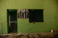 Chaulk board used to keep track of  the number of prisoners in the maximum security prison Manhera, Somaliland.