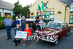 Launching the Blennerville Tractor and Car Run Kerry Hospice fundraiser on Monday, which is been held in Blennerville on Sunday September 26th, starting at 10.30am. Kneeling l to r: Sean Kerins and Maura Sullivan. Back l to r: John Kerins, Michael Kerins, Denis Murphy, Donal and Danielle O'Riordan, Tadgh Kerins and William McElligott.