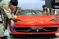 Ferrari stand at the Beijing Auto Show. The car show has attracted all the world's major auto markers. China's vehicle sales have breached the 10-million barrier for the first time ever, with 10.9 million automobiles sold last year. .24 Apr 2010