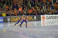 SPEEDSKATING: HEERENVEEN: 10-01- 2020, IJsstadion Thialf, European Championship distances, Team Sprint Ladies, Letitia de Jong, Ireen Wüst, Team NED, ©foto Martin de Jong