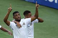 Santos (SP), 02.03.2020 - Santos-Ferroviária - O jogador sabino comemora gol. Partida entre Santos e Ferroviaria valida pela 2. rodada do Campeonato Paulista nesta quarta (3) no estadio da Vila Belmiro em Santos.