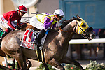 DEL MAR,CA-AUGUST 19: Hunt,ridden by Fravien Prat, wins the Del Mar Handicap at Del Mar Race Track on August 19,2017 in Del Mar,California (Photo by Kaz Ishida/Eclipse Sportswire/Getty Images)