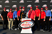 NASCAR XFINITY Series<br /> TheHouse.com 300<br /> Chicagoland Speedway, Joliet, IL USA<br /> Saturday 16 September 2017<br /> Matt Tifft, TMNT Lone Rat & Cub/ABTA Toyota Camry, Toyota executives, Xfinity trophy <br /> World Copyright: Logan Whitton<br /> LAT Images