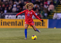 COLUMBUS, OH - NOVEMBER 07: Casey Short #26 of the United States passes the ball during a game between Sweden and USWNT at Mapfre Stadium on November 07, 2019 in Columbus, Ohio.
