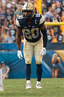 Pitt defensive back Dennis Briggs. The Pitt Panthers football team defeated the Albany Great Danes 33-7 on September 01, 2018 at Heinz Field, Pittsburgh, Pennsylvania.