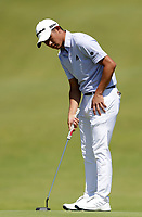 16th July 2021; Royal St Georges Golf Club, Sandwich, Kent, England; The Open Championship Tour Golf, Day Two; Collin Morikawa (USA) putts for a birdie on the 17h hole