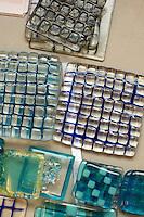 Glasswork in the Ceramics Dept. at University College for the Creative Arts, Farnham.