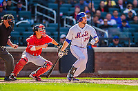 20 April 2013: New York Mets first baseman Ike Davis in action against the Washington Nationals at Citi Field in Flushing, NY. The Mets fell to the visiting Nationals 7-6, tying their 3-game weekend series at one a piece. Mandatory Credit: Ed Wolfstein Photo *** RAW (NEF) Image File Available ***