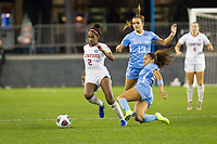 Stanford, CA - December 8, 2019: Naomi Girma at Avaya Stadium. The Stanford Cardinal won their 3rd National Championship, defeating the UNC Tar Heels 5-4 in PKs after the teams drew at 0-0.