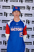 Daniel Carpenter (15) of Martin Luther King Jr. High School - Riverside in Moreno Valley, California during the Baseball Factory All-America Pre-Season Tournament, powered by Under Armour, on January 12, 2018 at Sloan Park Complex in Mesa, Arizona.  (Mike Janes/Four Seam Images)