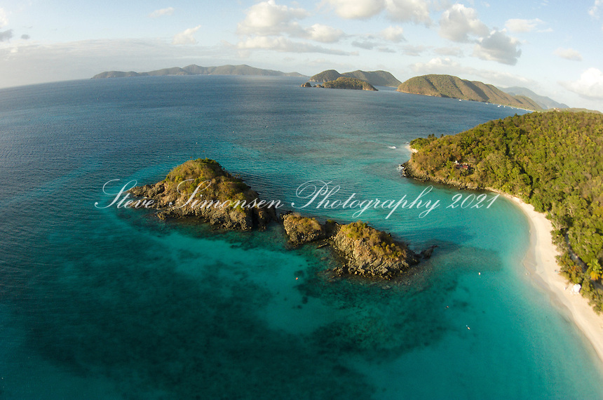 Aerial view of Trunk Bay<br /> Virgin Islands National Park<br /> St. John<br /> U.S. Virgin Islands