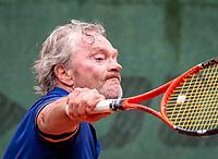 Hilversum, The Netherlands,  August 17, 2021,  Tulip Tennis Center, NKS, National Senior Tennis Championships, Men's 65+  Bart van Iperen (NED)  <br /> Photo: Tennisimages/Henk Koster
