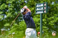 5th June 2021; Dublin, Ohio, USA; Hideki Matsuyama (JPN) watches his tee shot on 1 during the Memorial Tournament Rd3 at Muirfield Village Golf Club on June 5, 2021 in Dublin, Ohio.