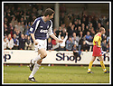 26/04/2003                   Copyright Pic : James Stewart.File Name : stewart-falkirk v ayr 04.STUART TAYLOR CELEBRATES AFTER SCORING FALKIRK'S SECOND......James Stewart Photo Agency, 19 Carronlea Drive, Falkirk. FK2 8DN      Vat Reg No. 607 6932 25.Office     : +44 (0)1324 570906     .Mobile  : +44 (0)7721 416997.Fax         :  +44 (0)1324 570906.E-mail  :  jim@jspa.co.uk.If you require further information then contact Jim Stewart on any of the numbers above.........