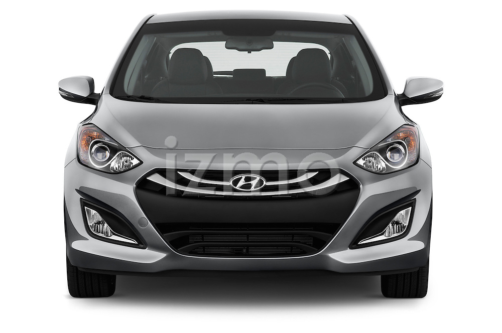 Straight front view of a 2013 Hyundai Elantra GT Hatchback