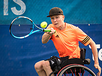 Amstelveen, Netherlands, 22 Augustus, 2020, National Tennis Center, NTC, NKR, National  Wheelchair Tennis Championships, Junior Boys single: Robin Groenewoud (NED)  <br /> Photo: Henk Koster/tennisimages.com
