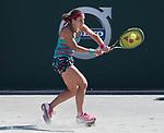 April 7,2017:   Anastasia Sevastova (LAT) loses to Laura Siegemund (GER) 6-2, 6-4, at the Volvo Car Open being played at Family Circle Tennis Center in Charleston, South Carolina.  ©Leslie Billman/Tennisclix/Cal Sport Media