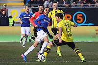 Sidney Sam (SV Darmstadt 98) gegen Sokratis (Borussia Dortmund)- 11.02.2017: SV Darmstadt 98 vs. Borussia Dortmund, Johnny Heimes Stadion am Boellenfalltor