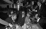 PAOLO VILLAGGIO CON LILLI CARATI, ENRICO LUCHERINI,  ROMANO MASSARA E GIANNA SERRA<br /> SERATA AL NUMBER ONE ROMA 1979