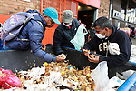 Colombians without work and food search for leftover inside food trash dumpsters