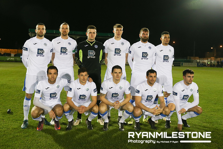 Finn Harps team photo during the SSE Airtricity League Promotion / Relegation Play-off Final 2nd leg game between Limerick and Finn Harps on Friday 2nd November 2018 at Markets Field, Limerick. Mandatory Credit: Michael P Ryan.
