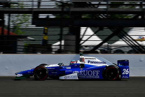 Verizon IndyCar Series<br /> Indianapolis 500 Carb Day<br /> Indianapolis Motor Speedway, Indianapolis, IN USA<br /> Friday 26 May 2017<br /> Takuma Sato, Andretti Autosport Honda<br /> World Copyright: Scott R LePage<br /> LAT Images<br /> ref: Digital Image lepage-170526-indy-8722