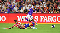 Orlando, FL - Wednesday July 31, 2019:  Nani #17, Vitolo #20 during an Major League Soccer (MLS) All-Star match between the MLS All-Stars and Atletico Madrid at Exploria Stadium.