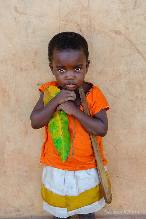 AWright_UG_007000.tif<br /> Little girl playing in Uganda, Africa.