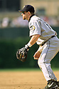 CHICAGO - CIRCA 1999:  Jeff Bagwell #5 of the Houston Astros fields during an MLB game at Wrigley Field in Chicago, Illinois. Bagwell played for 15 seasons, all with the Houston Astros, was a 4-time All-Star and was inducted to the Baseball Hall of Fame in 2017.(David Durochik / SportPics) --Jeff Bagwell