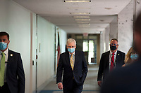 United States Senate Majority Leader Mitch McConnell (Republican of Kentucky) arrives for the GOP luncheon in the Hart Senate Office Building on Capitol Hill in Washington, DC., Tuesday, June 16, 2020. <br /> Credit: Rod Lamkey / CNP/AdMedia