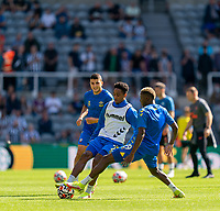 28th August 2021; St James Park, Newcastle upon Tyne, England; EPL Premier League football, Newcastle United versus Southampton; Kyle Walker-Peters of Southampton warming up