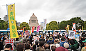 Protest against Abe cabinet