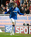 :: RANGERS' NIKICA JELAVIC CELEBRATES AFTER HE SCORES THE THIRD :: .19/04/2011   Copyright  Pic : James Stewart.sct_jsp017_dundee_utd_v_rangers .James Stewart Photography 19 Carronlea Drive, Falkirk. FK2 8DN      Vat Reg No. 607 6932 25.Telephone      : +44 (0)1324 570291 .Mobile              : +44 (0)7721 416997.E-mail  :  jim@jspa.co.uk.If you require further information then contact Jim Stewart on any of the numbers above.........