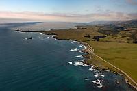 aerial photograph of California State Route 1 toward Point Piedras Blancas, San Luis Obispo County, California