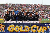 USMNT with the eleven that started the match. In CONCACAF Gold Cup Group Stage, the U.S. Men's National Team (USMNT) (blue/white) defeated Costa Rica (red/blue), 1-0, at Rentschler Field, East Hartford, CT on July 16, 2013.