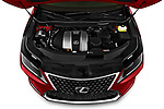 Car Stock 2021 Lexus RX 350L 5 Door SUV Engine  high angle detail view