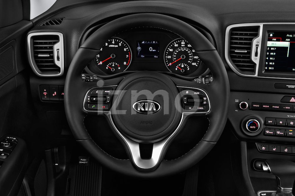 Car pictures of steering wheel view of a 2017 KIA Sportage 2.4-EX-AT-AWD 5 Door SUV Steering Wheel