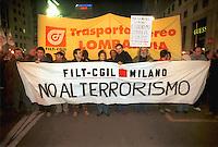 - Milan, demonstration of CGIL trade union against the terrorism....- Milano, manifestazione del sindacato CGIL contro il terrorismo