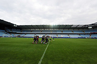 Wednesday 07 August 2013<br /> Pictured: Players warming up at the Malmo Stadium, Sweden.<br /> Re: Swansea City FC travelling to Sweden for their Europa League 3rd Qualifying Round, Second Leg game against Malmo.