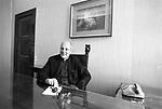 L'ARCIVESCOVO PAUL MARCINKUS SEGRETARIO DELLO IOR NEL SUO  STUDIO   CITTA DEL VATICANO 1978