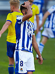 Mikel Merino (Real Sociedad) gestures during  La Liga match round 10 between Cadiz CF and Real Sociedad at Ramon of Carranza Stadium in Cadiz, Spain, as the season resumed following a three-month absence due to the novel coronavirus COVID-19 pandemic. Nov 22, 2020. (ALTERPHOTOS/Manu R.B.)