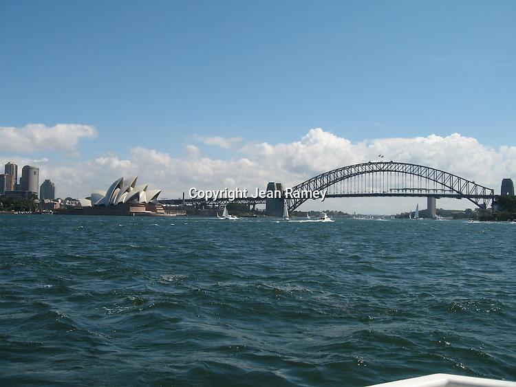 Sydney Opera House & Bridge from Sydney Harbour