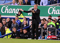 Liverpool, UK. Saturday 01 November 2014<br /> Pictured: Swansea manager Garry Monk. Premier League Everton v Swansea City FC at Goodison Park, Liverpool, England, Britain<br /> Re: Premier League Everton v Swansea City FC at Goodison Park, Liverpool, Merseyside, UK.