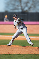 Kennesaw State Owls relief pitcher Jordan Versteeg (31) in action against the Winthrop Eagles at the Winthrop Ballpark on March 15, 2015 in Rock Hill, South Carolina.  The Eagles defeated the Owls 11-4.  (Brian Westerholt/Four Seam Images)