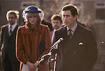 Prince Charles and Diana Princess of Wales their first tour of Wales together in 1982. Their first tour of Wales together in after their marriage. 1980s.