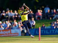 Ian Holland bowls for Hampshire during Kent Spitfires vs Hampshire Hawks, Vitality Blast T20 Cricket at The Spitfire Ground on 9th June 2021