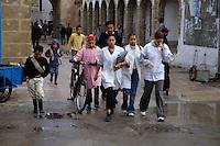 Essaouira, Morocco - Children Going to School