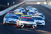 Monster Energy NASCAR Cup Series<br /> Brickyard 400<br /> Indianapolis Motor Speedway, Indianapolis, IN USA<br /> Sunday 23 July 2017<br /> Erik Jones, Furniture Row Racing, Sport Clips Toyota Camry, Brad Keselowski, Team Penske, Miller Lite Ford Fusion and Ryan Blaney, Wood Brothers Racing, Quick Lane Tire & Auto Center Ford Fusion<br /> World Copyright: Russell LaBounty<br /> LAT Images